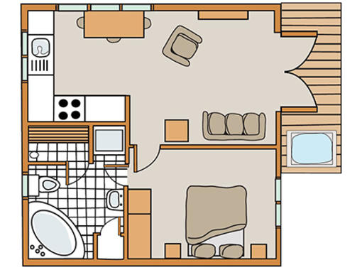 Floor plan for Tissington  classic Skyline 1 Spa