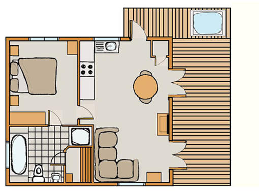 Floor plan for kedleston Elite Vogue 1 Spa