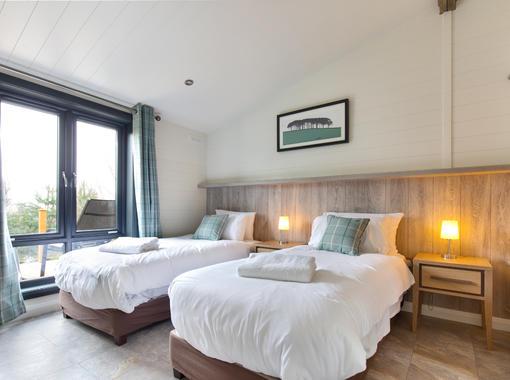 stylish and comfortable twin bedroom