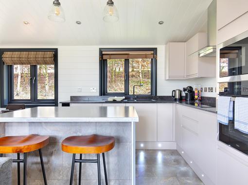 Modern and sleek kitchen area