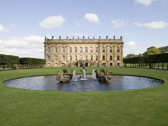 A majestic looking Chatsworth House