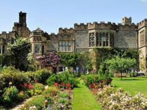 Haddon Hall with beautiful gardens