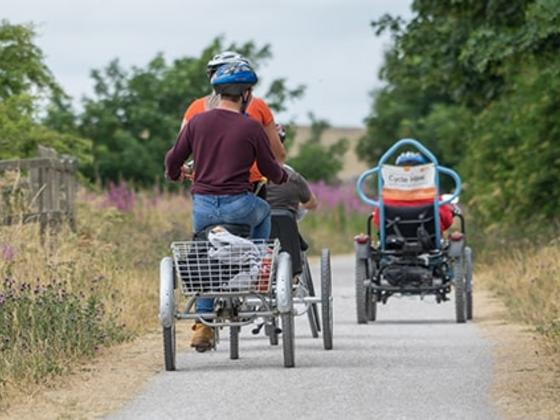 accessible bikes on trail