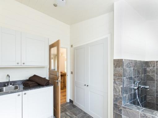 Doggy shower / utility room with stable door