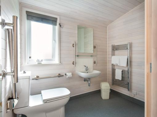 spacious accessible wet room